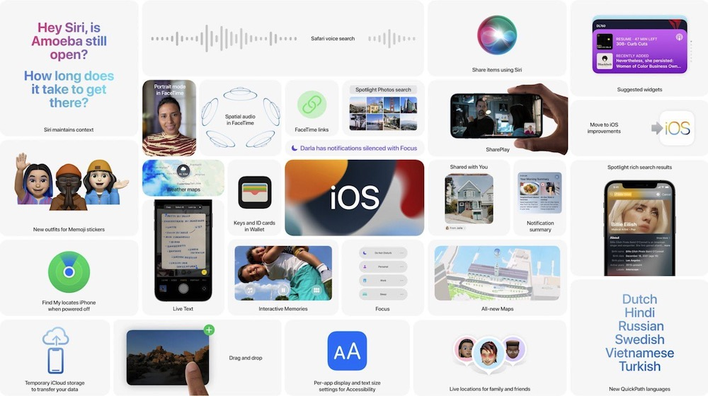 Apple iOS 15 new features