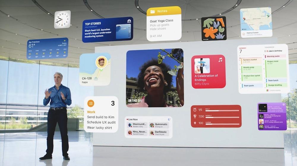 Apple iPadOS 15 Widgets
