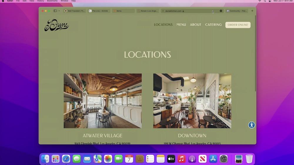 macOS Monterey Safari Tabs