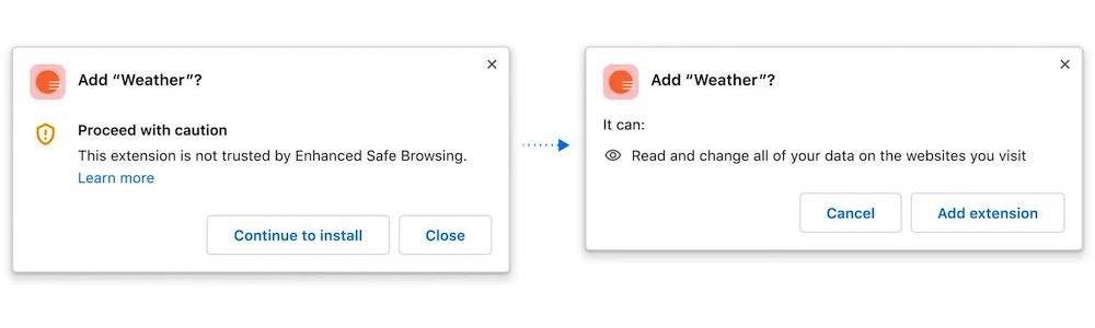 Google Chrome Install Dialog