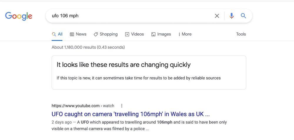 Google unreliable search results