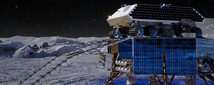 rocket mining system on rover