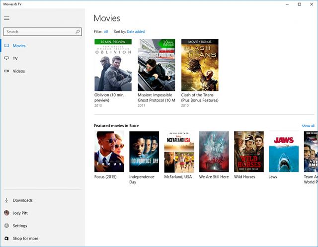 Filmy i TV Microsoft