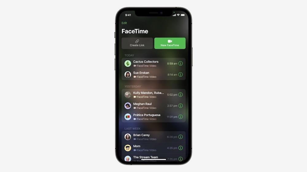iOS 15 FaceTime Shared Links