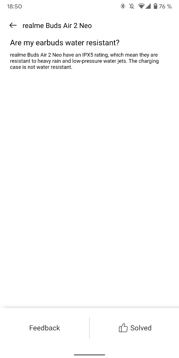 Realme Buds Air 2 Neo - Realme Link