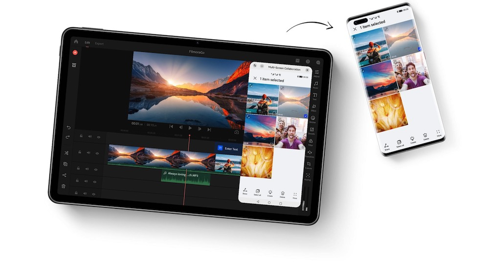 HUAWEI MatePad 11 collaborate with phone