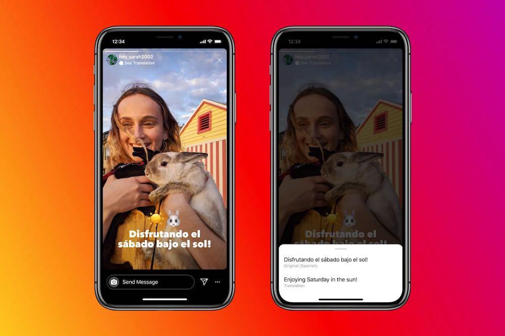 Instagram Stories Text Translation