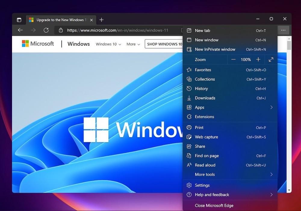 Microsoft Edge title bar