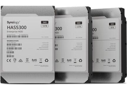 Состоялся релиз SAS HAS5300 — жёстких дисков корпоративного класса от Synology