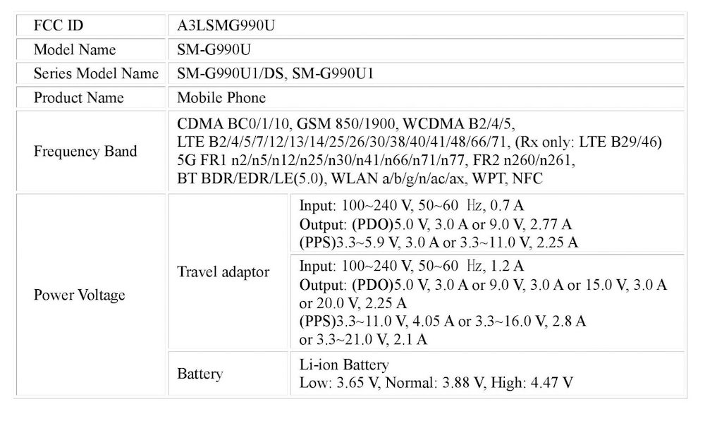 Samsung Galaxy S21 FE specs
