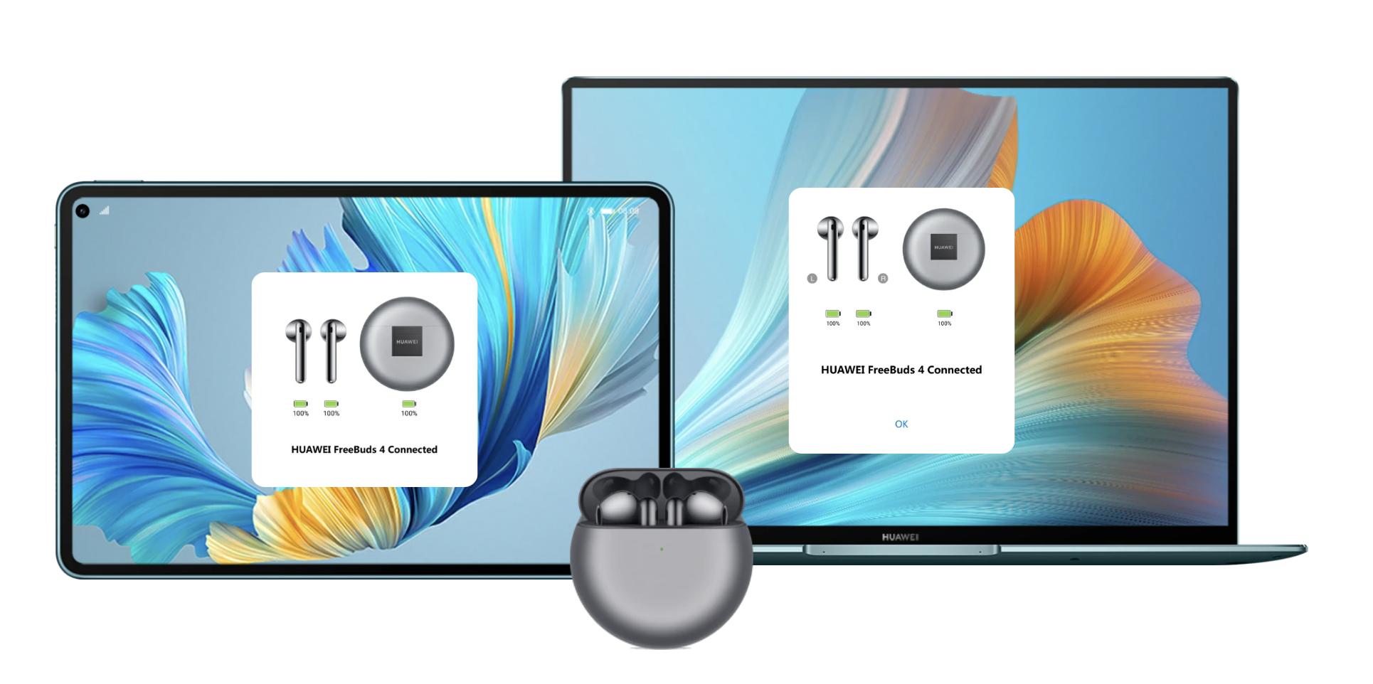 Freebuds 4 можна підключити одночасно до двох пристроїв