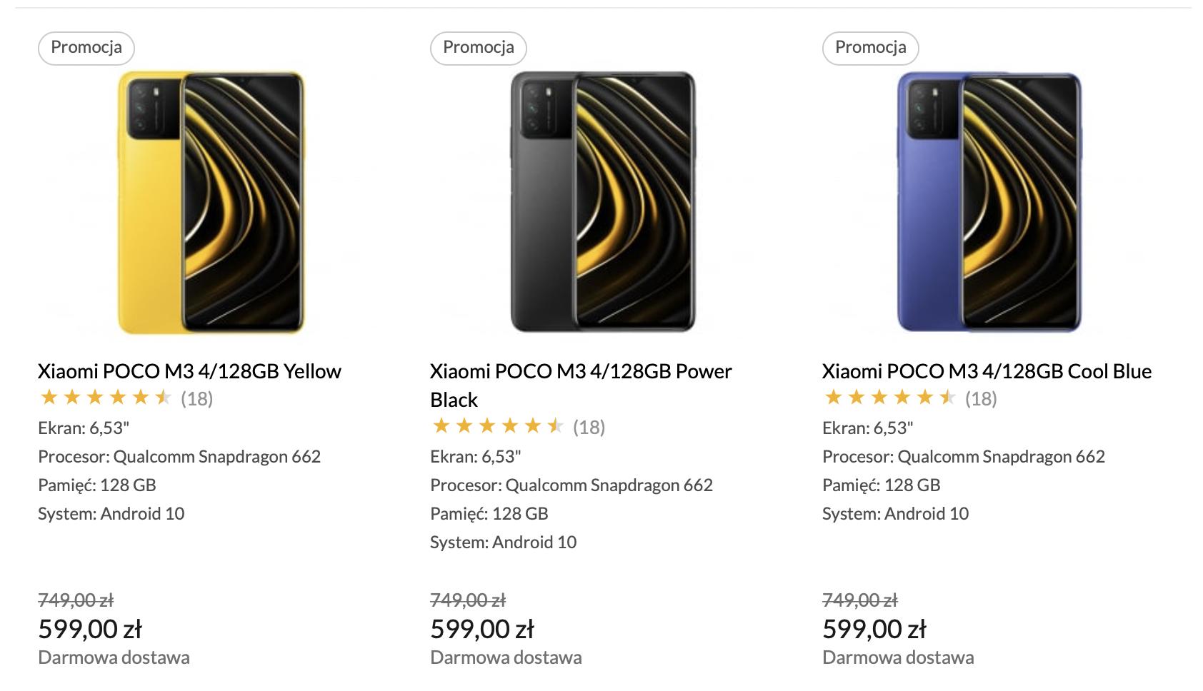 Tylko dziś Xiaomi POCO M3 128 GB za 599 zł