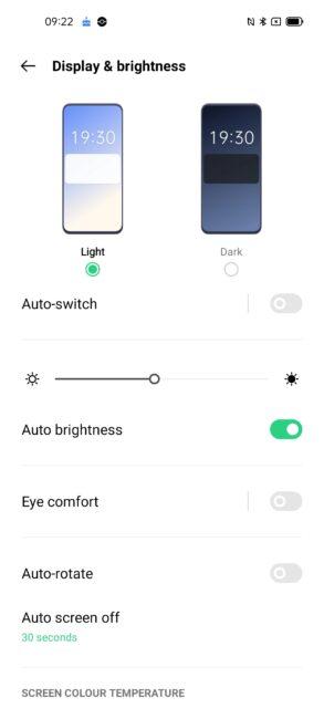 oppo a74 eye comfort