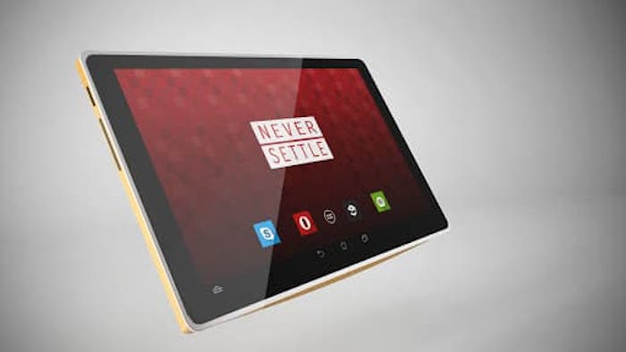 Tablet OnePlus mockup