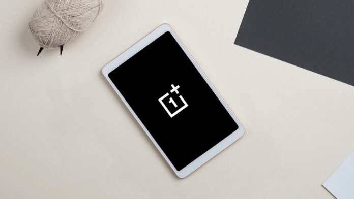 Tablet mockup with OnePlus logo