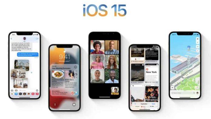 Apple iOS 15 beta 6