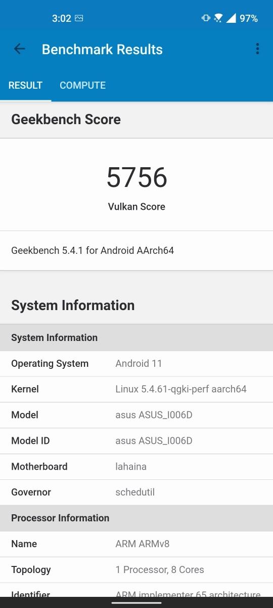 ASUS Zenfone 8 - Benchmarks