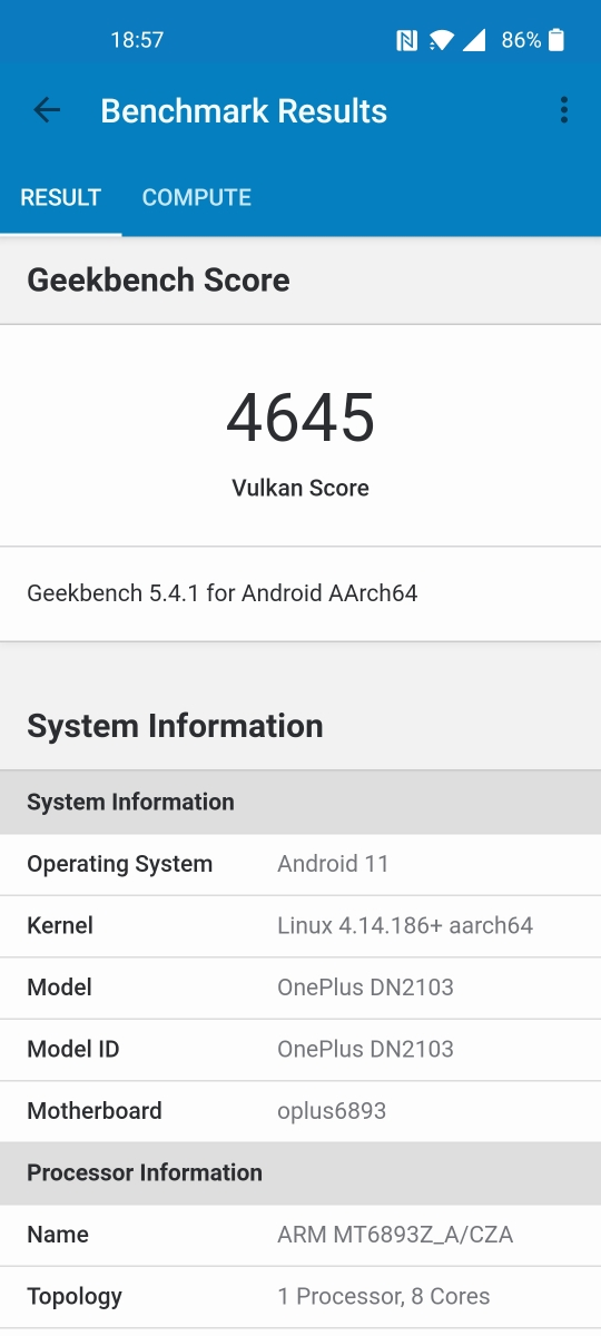 OnePlus Nord 2 5G - Benchmarks