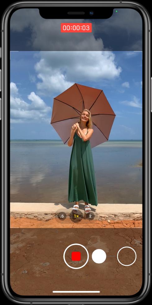камера iPhone - запись видео