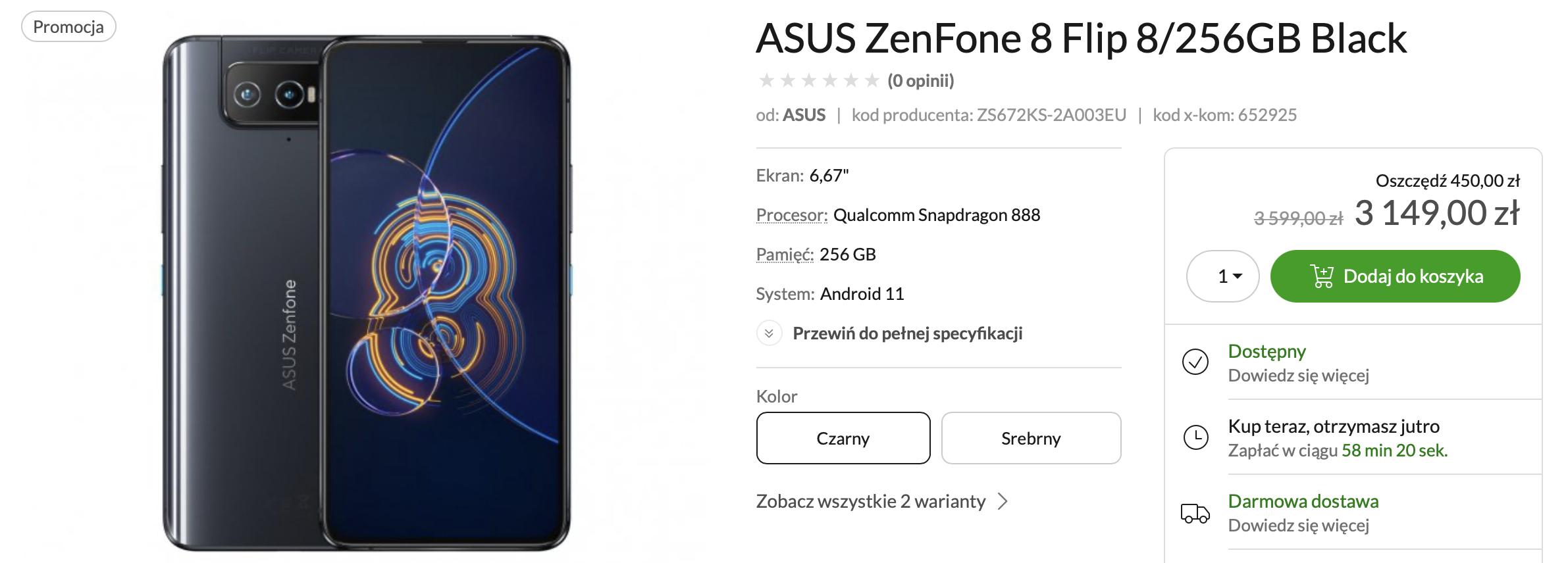 Gdzie kupić ASUS Zenfone 8 Flip