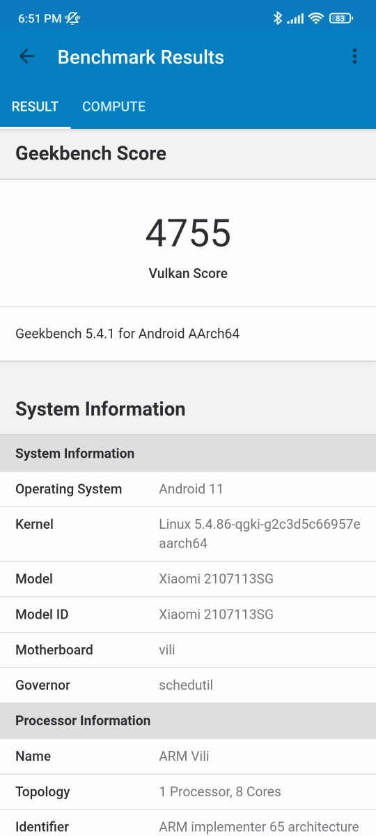 Xiaomi 11T Pro - Benchmarks