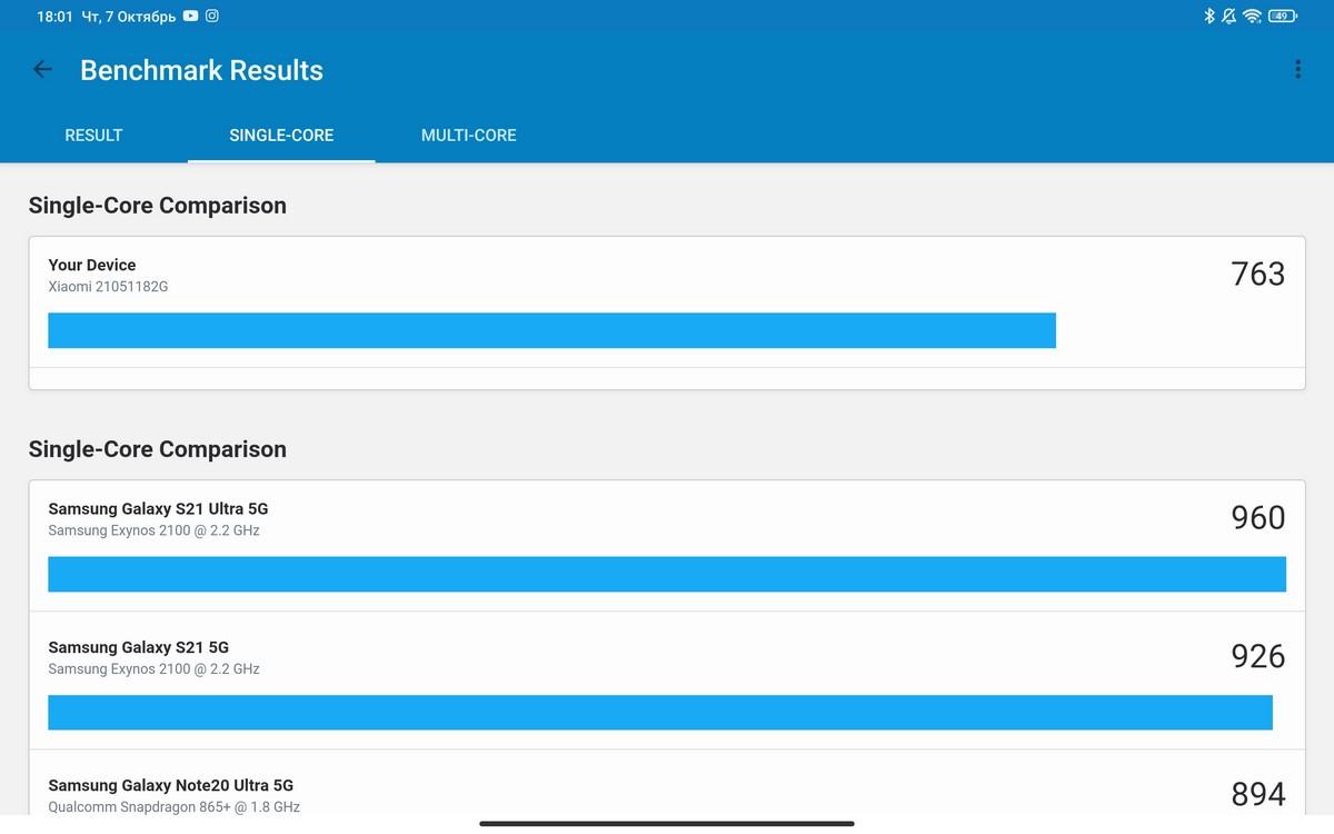 Xiaomi Pad 5 - Benchmarks
